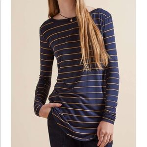 The Fifth    Navy Striped Long Sleeve Top